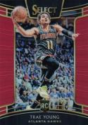 2018-19 Panini Select Red Prizms #45 Trae Young Concourse NM+ 79/199