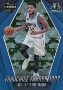 2016-17 Panini Totally Certified Camo #4 Karl-Anthony Towns NM Near Mint 6/25