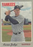 2019 Topps Heritage Cloth Sticker #1 Aaron Judge NM Near Mint