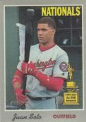 2019 Topps Heritage Cloth Sticker #4 Juan Soto NM Near Mint
