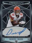 2018 Panini Obsidian Rookie Autographs #RKA-DW Denzel Ward NM Near Mint RC Rookie Auto 60/100