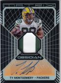 2018 Panini Obsidian Matrix Material Auto Electric Etch Orange #MA-TY Ty Montgomery NM Near Mint MEM Auto 36/50
