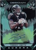 2018 Panini Obsidian Electric Etch Green Aurora Auto #AA-TS Torrey Smith NM Near Mint Auto 1/15