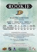 2018 19 Upper Deck Artifacts #X1 Maxime Comtois NM Near Mint RC Rookie Auto 173/175