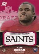 2011 Topps Rising Rookies Red #140 Mark Ingram NM Near Mint RC Rookie 75/99