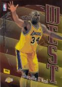 1998-99 Topps East West #EW2 Shaquille O Neal Alonzo Mourning NM Near Mint