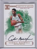 2016-17 Panini Impeccable Indelible Ink #II-CM Cedric Maxwell NM Near Mint Auto 25/99