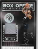 2018-19 Panini Noir Box Office #DRS Derrick Rose NM Near Mint MEM 17/99