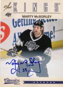 2012-13 Panini Classics #83 Marty Mcsorley NM Near Mint Auto