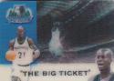 1999-00 Minnesota Timberwolves Schedule 3D # Kevin Garnett NM Near Mint