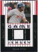 2008 Upper Deck Game Jersey #DO David Ortiz NM Near Mint MEM