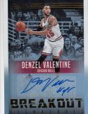 2016-17 Panini Studio Breakout #2 Denzel Valentine Auto 253/299