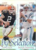 2000 Bowman Chrome Refractor #B6 Peyton Manning Tim Couch