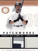 2003 Fleer Patchworks #PW Bernie Williams MEM 41/50