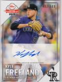 2019 Topps National Baseball Card Day #KF Kyle Freeland Auto 483/500