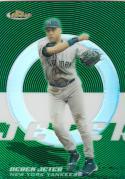 2005 Topps Finest Green Refractor #125 Derek Jeter 187/199