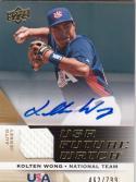 2009 Upper Deck Signature Edition USA #19 Kolten Wong MEM Auto 462/799