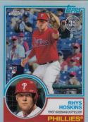 2018 Topps Chrome Refractor #21 Rhys Hoskins RC Rookie