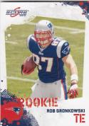 2010 Panini Score #383 Rob Gronkowski RC Rookie