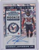 2019 Panini Contenders Cracked Ice #251 Lonnie Johnson Jr RC Rookie Auto 15/23