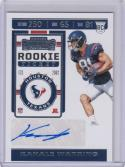 2019 Panini Contenders #219 Kahale Warring RC Rookie Auto