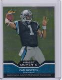 2011 Topps Finest Moments #FM-CN Cam Newton RC Rookie