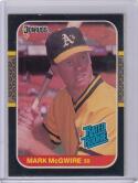 1987 Donruss #46 Mark Mcgwire RC Rookie