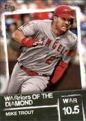 2020 Topps WARriors of the Diamond #WOD-19 Mike Trout NM Near Mint